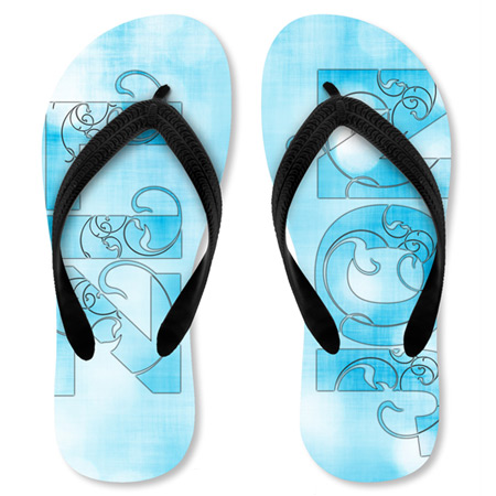 just married thong sandals