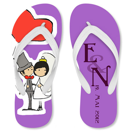 Just Married Thong Sandales
