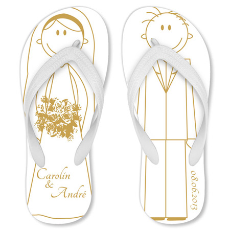 1c9c84e5d2f742 Customized Bridal Flip Flops  A Unique Wedding Present
