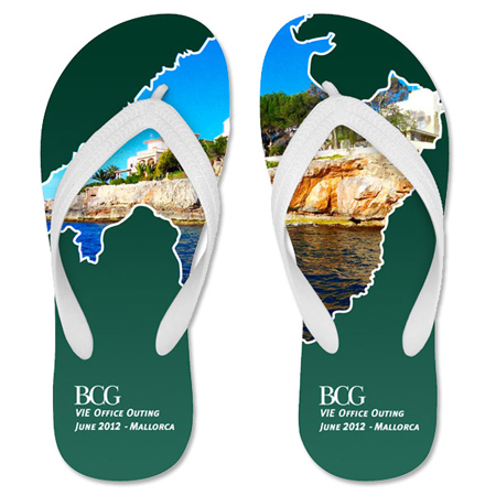 Promotional flip flops with your logo