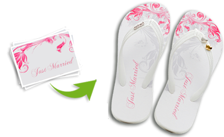 just married flip flops for your wedding